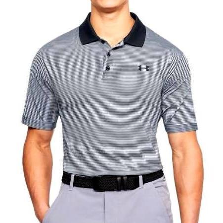 アンダーアーマー ポロシャツ メンズ UA Performance Patterned 黒 / 黒 ゴルフ Golf Polo Shirt