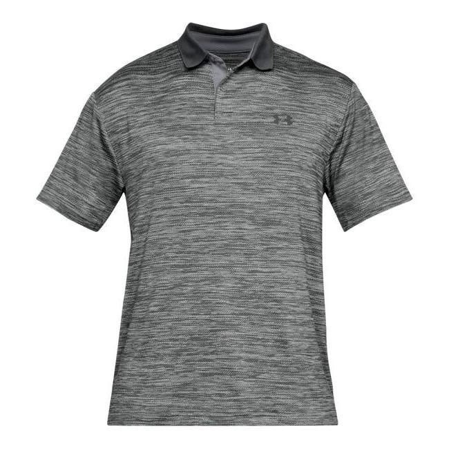 アンダーアーマー メンズ Under Armour Performance Textured Golf Polo Shirt ゴルフ ポロシャツ Steel