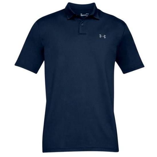 アンダーアーマー メンズ Under Armour Performance Textu赤 Golf Polo Shirt ゴルフ ポロシャツ Academy