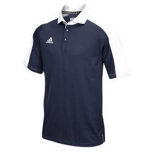 アディダス メンズ ポロシャツ adidas Team Modern Varsity Polo ゴルフ ロゴ 半袖 College Navy/白い