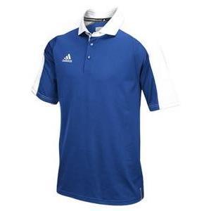 アディダス メンズ ポロシャツ adidas Team Modern Varsity Polo ゴルフ ロゴ 半袖 College Royal/白い