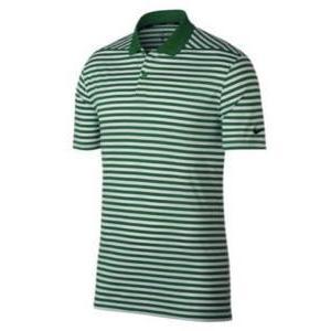 ナイキ メンズ ポロシャツ Nike Dri-Fit Victory Stripe Golf Polo ゴルフ 半袖 Classic 緑/白い/黒