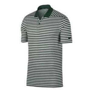 ナイキ メンズ ポロシャツ Nike Dri-Fit Victory Stripe Golf Polo ゴルフ 半袖 Gorge Green/White/Black