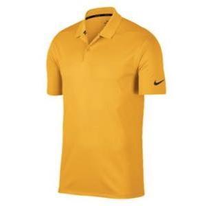 ナイキ メンズ ポロシャツ Nike Dri-Fit Victory Solid Golf Polo ゴルフ 半袖 University ゴールド/黒