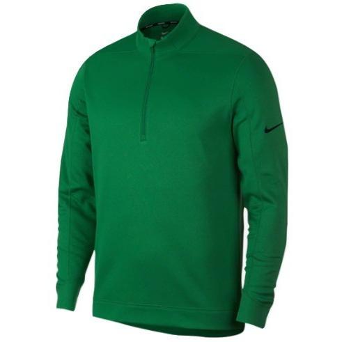 ナイキ メンズ ゴルフ ポロシャツ Nike Therma Repel 1/2 Zip Golf Top 長袖 Classic 緑/黒