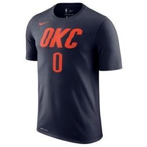 ナイキ メンズ Tシャツ Russell Westbrook Oklahoma City Thunder Nike Number T-Shirt Navy