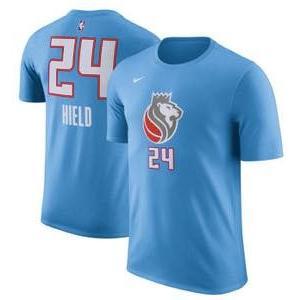 ナイキ メンズ Tシャツ Buddy Hield Sacramento Kings Nike City Edition Name & Number Performance T-Shirt 青