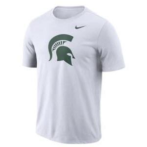 ナイキ メンズ NCAA カレッジ Tシャツ Michigan State Spartans Nike Performance Cotton School Logo T-Shirt 白い