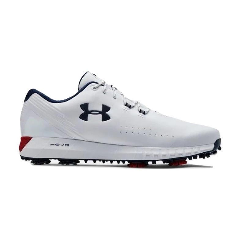 高級品市場 アンダーアーマー メンズ Under Armour HOVR Drive Golf Shoes ゴルフシューズ White/Red, ほいく百貨店 080defb0