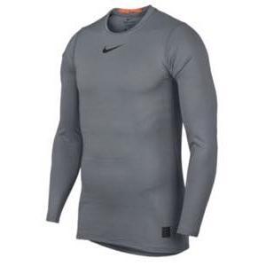 ナイキ メンズ ロンT Nike Warm Fitted Long Sleeve Top 長袖 インナー ナイキプロ Cool グレー/Hyper Crimson/黒