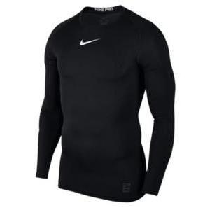 ナイキ メンズ コンプレッション Nike Pro Compression Long Sleeve Top 長袖 インナー ナイキプロ 黒/白い/白い