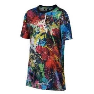 ナイキ ボーイズ/キッズ/レディース Tシャツ Nike Parade T-Shirt 半袖 ロゴ プリント 小学生 Multi