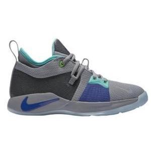 ナイキ ボーイズ/キッズ/レディース バスケットボール シューズ Nike PG 2 Pure Platinum/Neon Turquoise/Wolf グレー/Aurora 緑