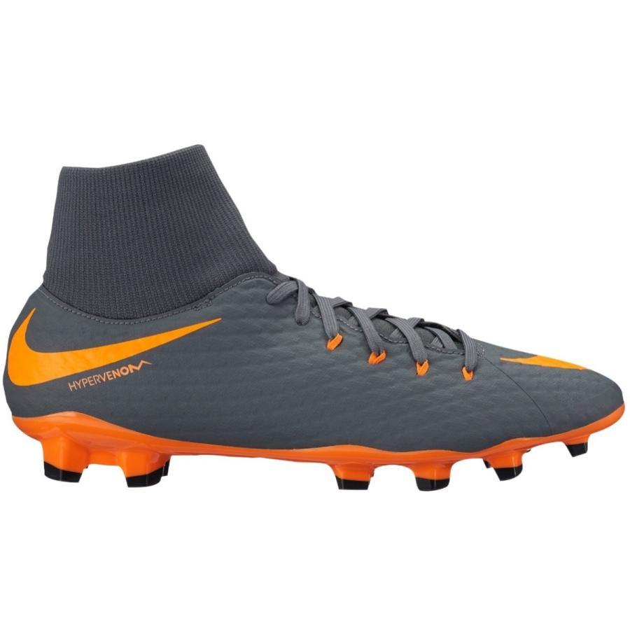 ナイキ メンズ サッカー シューズ Nike Hypervenom Phantom 3 Elite FG スパイク Dark グレー/Total オレンジ/白い