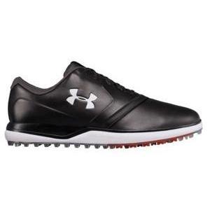 即納 アンダーアーマー メンズ Under Armour Armour Armour Performance SL Leather Golf Shoes ゴルフシューズ 黒/Sultry 2e5