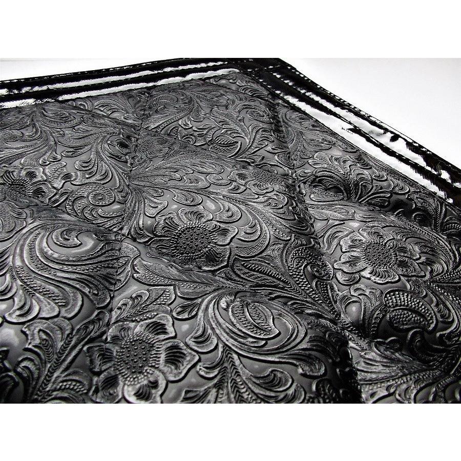 ◆条件付き送料無料◆NAKANOオリジナル 泥よけ 菊王 180×300mm (ブラック/フチ黒)金華山を彷彿させるタトゥー生地|truckshop-nakano|03