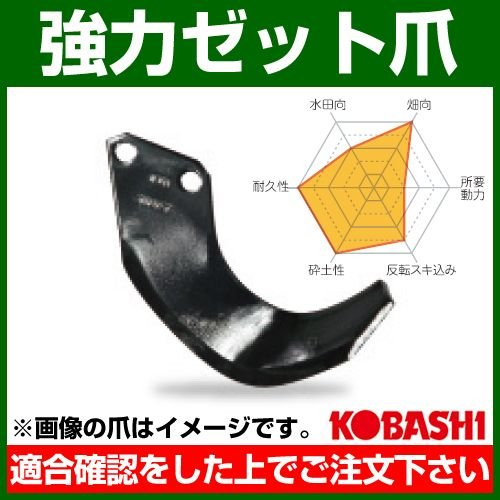 コバシ 強力ゼット爪 外張 セット F2611Z フランジタイプ 7759S 44本