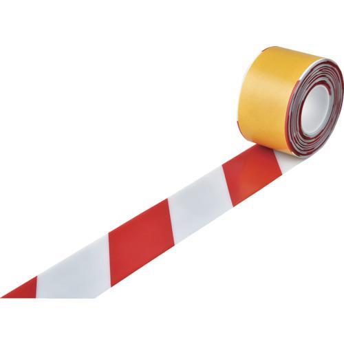 緑十字 高耐久ラインテープ 白/赤 100mm幅×10m 両端テーパー構造 403088 期間限定 ポイント10倍