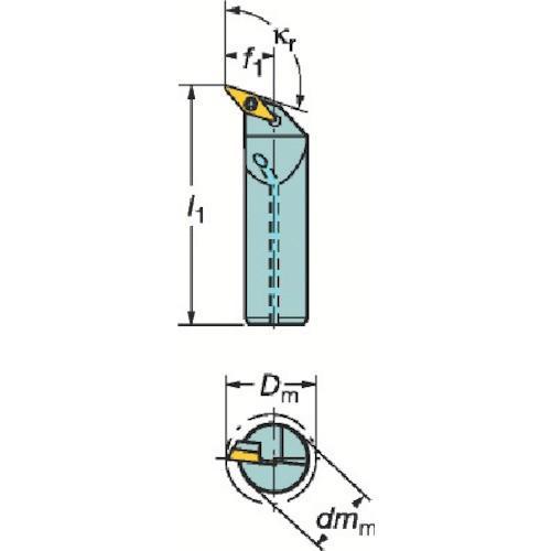 サンドビック コロターン107 ポジチップ用ボーリングバイト A32T-SVQBR16 期間限定 ポイント10倍