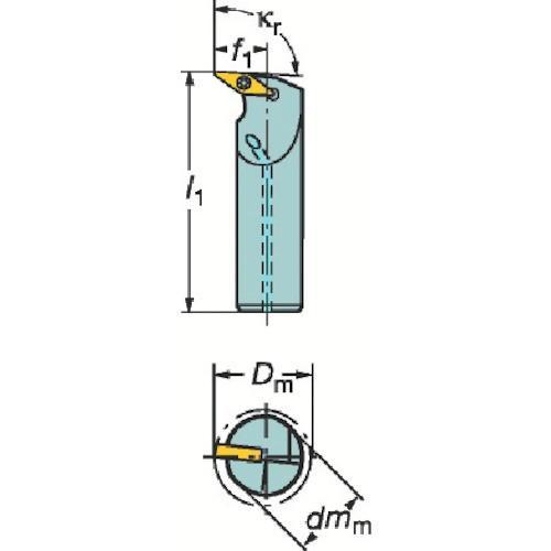 サンドビック コロターン107 ポジチップ用ボーリングバイト A32T-SVUBL16期間限定 ポイント10倍