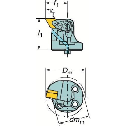 サンドビック コロターンSL コロターンRC用カッティングヘッド 570-DDUNR-32-11 期間限定 ポイント10倍