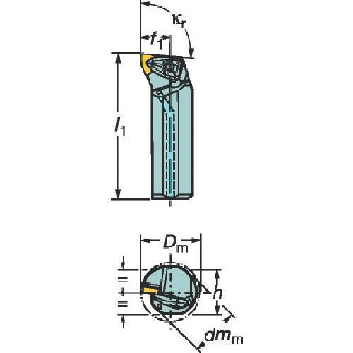 サンドビック コロターンRC ネガチップ用ボーリングバイト A50U-DWLNL_08期間限定 ポイント10倍