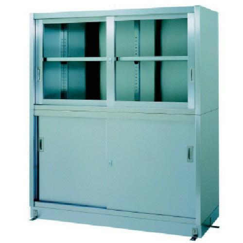 シンコー ステンレス保管庫上部ガラス戸下部ステンレス戸ベース仕様 VG-15045 期間限定 ポイント10倍