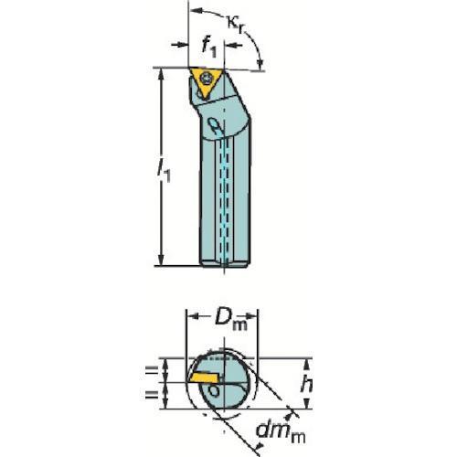 サンドビック コロターン107 ポジチップ用ボーリングバイト A08H-STFCL06 期間限定 ポイント10倍