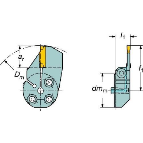 サンドビック コロターンSL コロカット1・2用端面溝入れブレード 570-32R123H18B132B期間限定 ポイント10倍