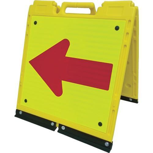 仙台銘板 ソフトサインボードミニ蛍光黄色/赤プリズム反射 矢印板 450×600 3095524 期間限定 ポイント10倍