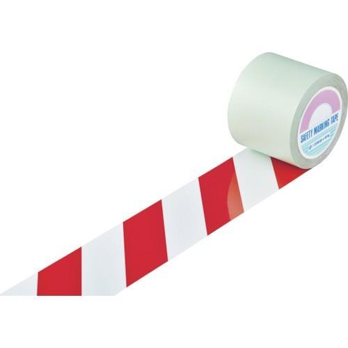 緑十字 ガードテープ ラインテープ 白/赤 トラ柄 100mm幅×20m 148163 期間限定 ポイント10倍