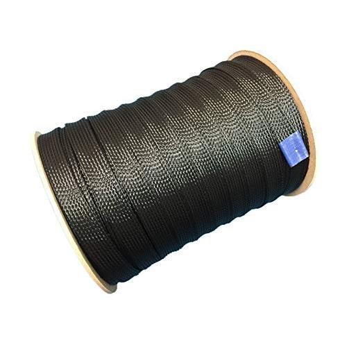 ケーブル被覆用 ポリエステル編組スリーブ (黒) 通常径:約12φ 通常径:約12φ 拡大径:約28φ 100M巻