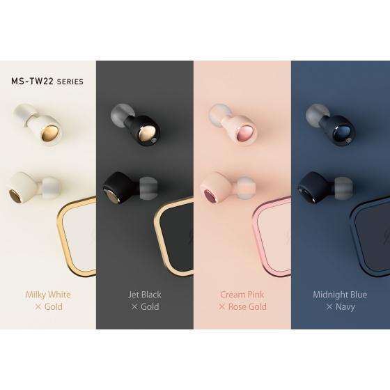 2021年 新製品 ワイヤレスイヤホン Bluetooth 両耳 カナル型 Bluetoothイヤホン M-SOUNDS ジェットブラックxゴールド MS-TW22BG MSTW22BG|try3|12