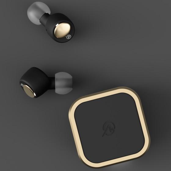 2021年 新製品 ワイヤレスイヤホン Bluetooth 両耳 カナル型 Bluetoothイヤホン M-SOUNDS ジェットブラックxゴールド MS-TW22BG MSTW22BG|try3|04