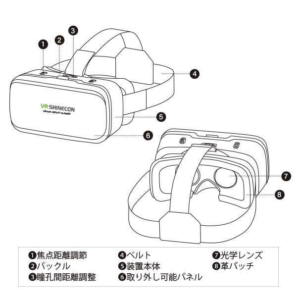 VRゴーグル iPhone Android 3D 動画 バーチャル VR SHINECON 3D眼鏡 送料無料 trybest-biz 06