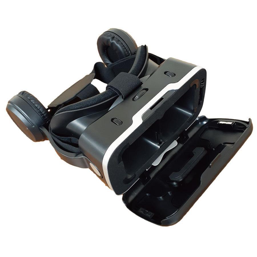 VRゴーグル iPhone Android ヘッドフォン付き 3D 動画 バーチャル VR SHINECON 3D眼鏡 送料無料|trybest-biz|02