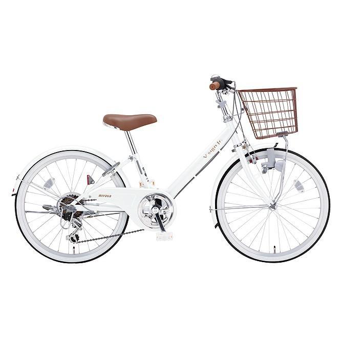 【キャッシュレス5%還元対象店】送料無料 ミヤタ(MIYATA) 子供用自転車 Vサインジュニア CRVJ2469 (OW47) シェルホワイト