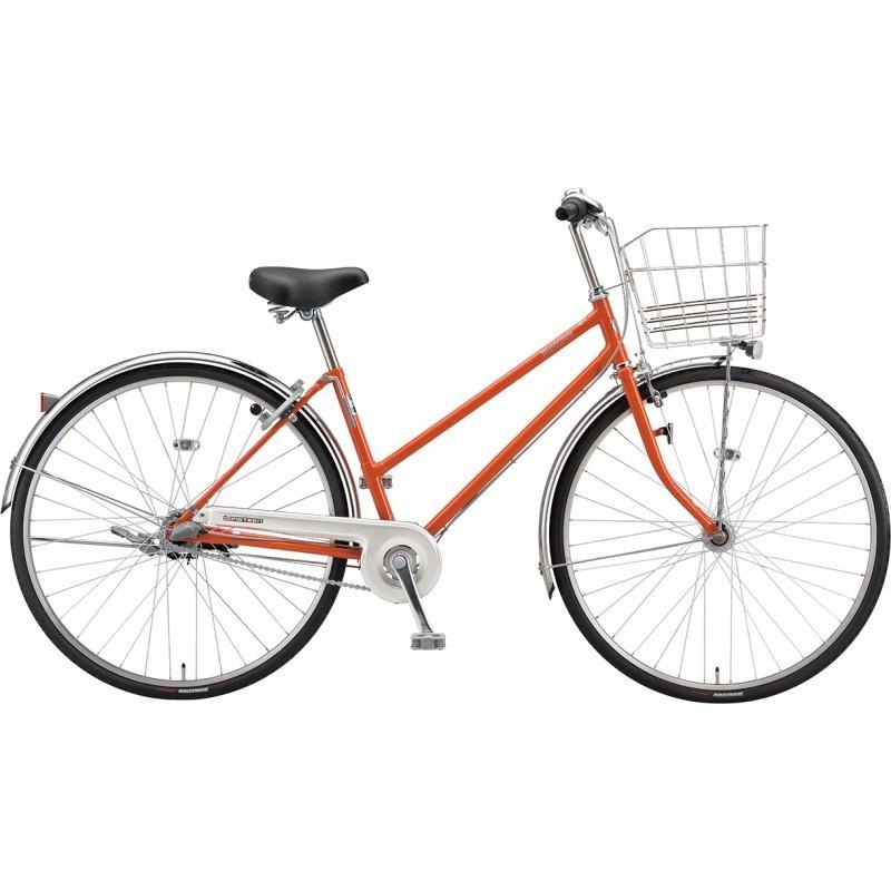 送料無料 ブリヂストン シティサイクル自転車 ロングティーン L63ST1 F.Xソリッドオレンジ