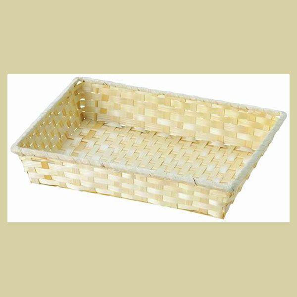 まとめ買い特価160P『竹』四角タイプトレー「42×31×8cm」/ナチュラル