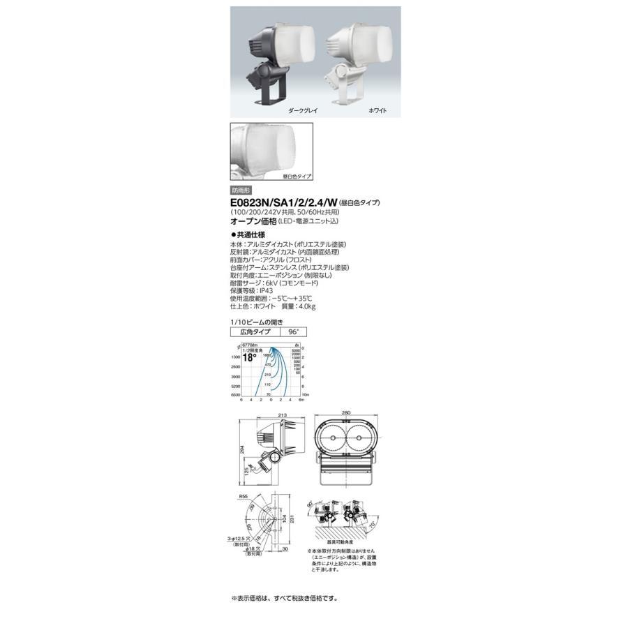 岩崎電気 施設照明 LED投光器 レディオック フラッド ブリッツ(80Wタイプ) 広角タイプ 昼白色 ホワイト E0823N/SA1/2/2.4/W