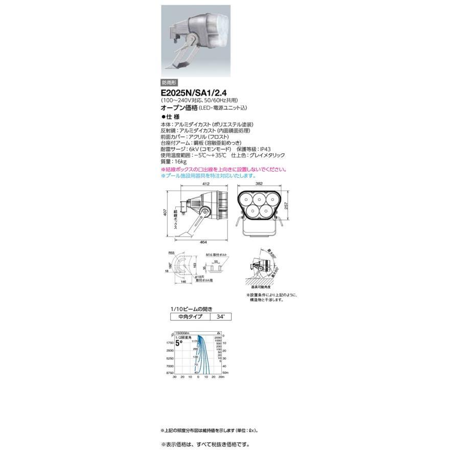 岩崎電気 施設照明 LED投光器 レディオック フラッド ブリッツ(200Wタイプ) 中角タイプ 昼白色 E2025N/SA1/2.4