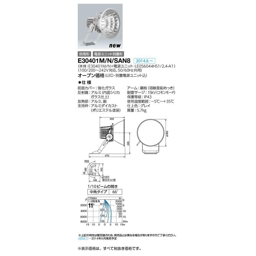 岩崎電気 施設照明 LED投光器 レディオック フラッド スポラート(65Wタイプ) 水銀ランプ250W相当 中角タイプ 昼白色 E30401M/N/SAN8