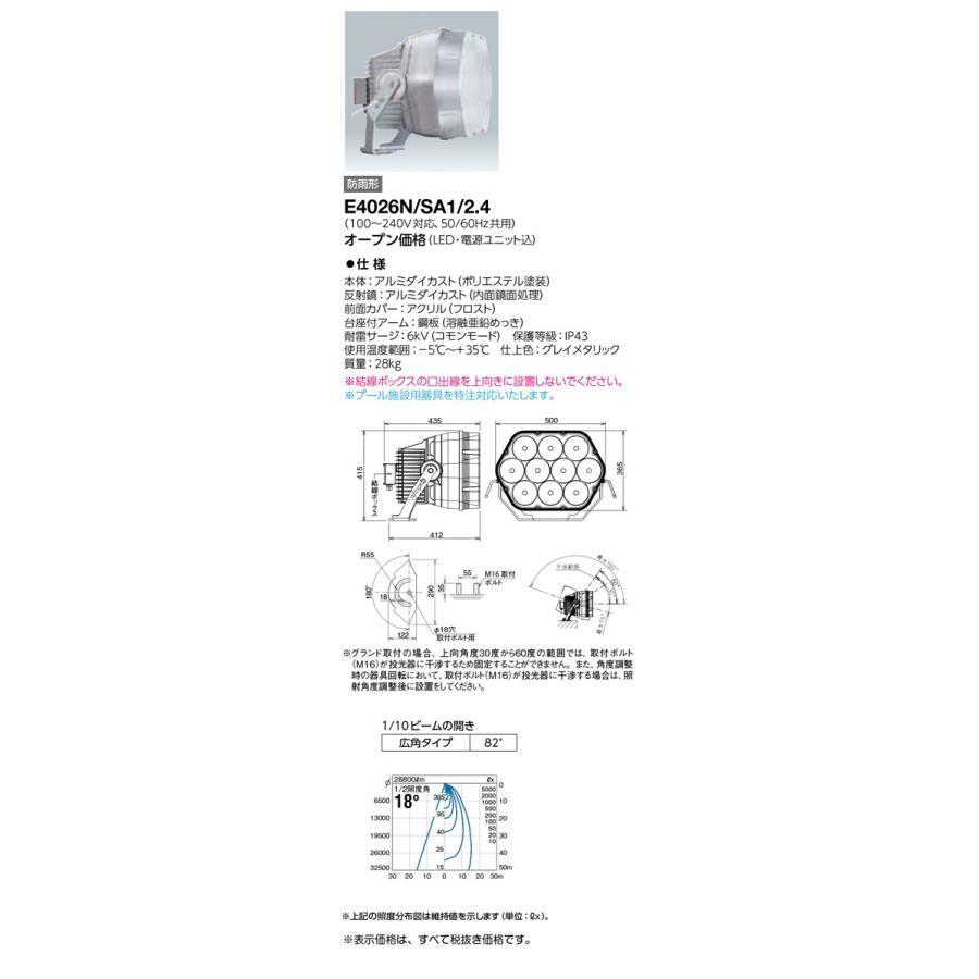 岩崎電気 施設照明 LED投光器 レディオック フラッド ブリッツ(400Wタイプ) 広角タイプ 昼白色 E4026N/SA1/2.4