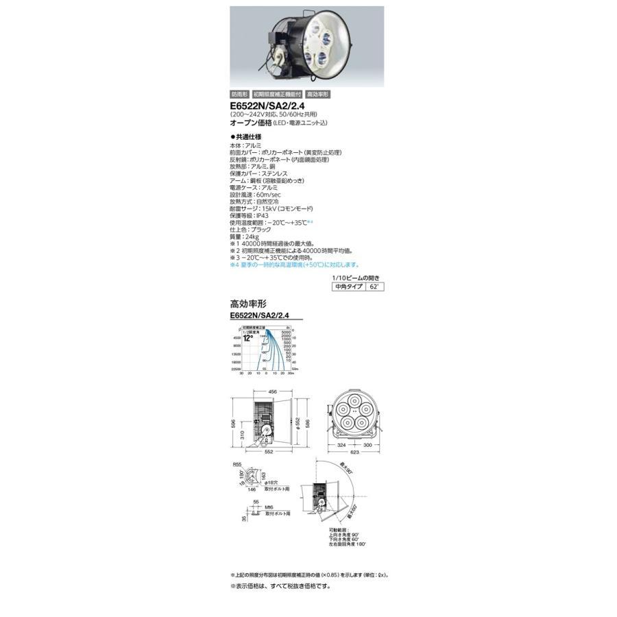 岩崎電気 施設照明 LED投光器 レディオック フラッド デュエル(650Wタイプ) 中角タイプ 高効率形 昼白色 E6522N/SA2/2.4