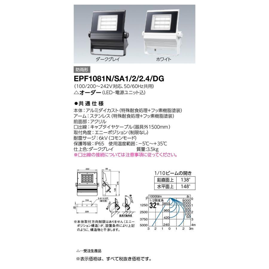 岩崎電気 施設照明 LED投光器 屋内プール用照明器具 レディオック フラッド ネオ 100W(超広角) 昼白色 EPF1081N/SA1/2/2.4/DG