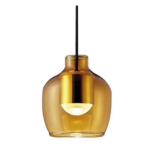Panasonic 照明器具 LEDペンダントライト 電球色 美ルック ガラスセードタイプ アンバー(壷型) アンバー(壷型) アンバー(壷型) 拡散タイプ 60形電球相当 LGB10425LE1 837