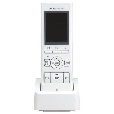 WJ-4WD 受注生産品 アイホン 激安特価品 タッチパネル式ワイヤレステレビドアホン用 モニター付ワイヤレス子機 室内5 最大設置台数:玄関4 ROCOタッチ7