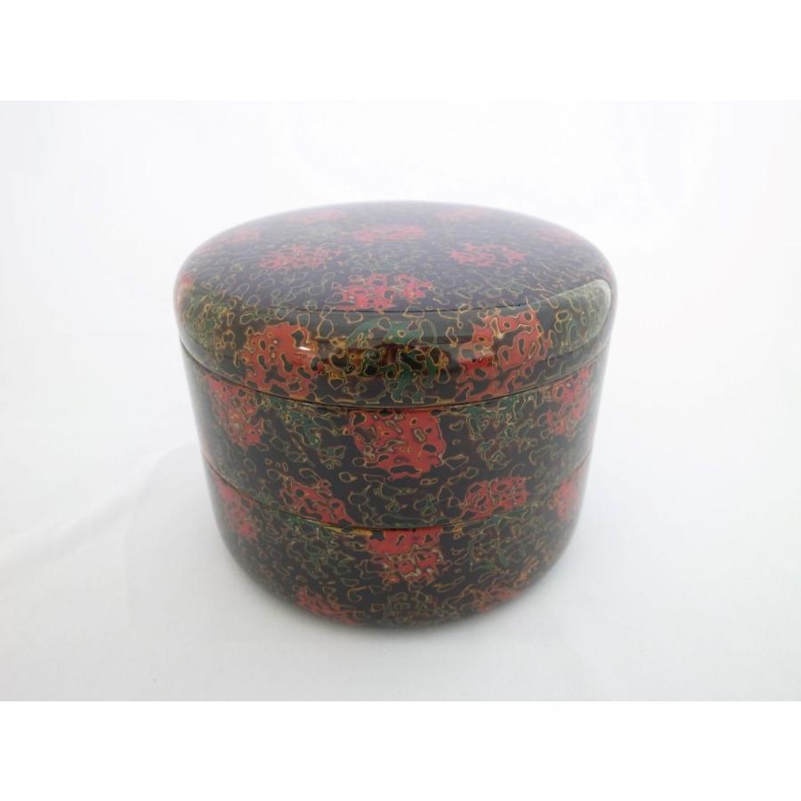 丸二段重 木粉 唐塗呂上|tsugaru-ishioka
