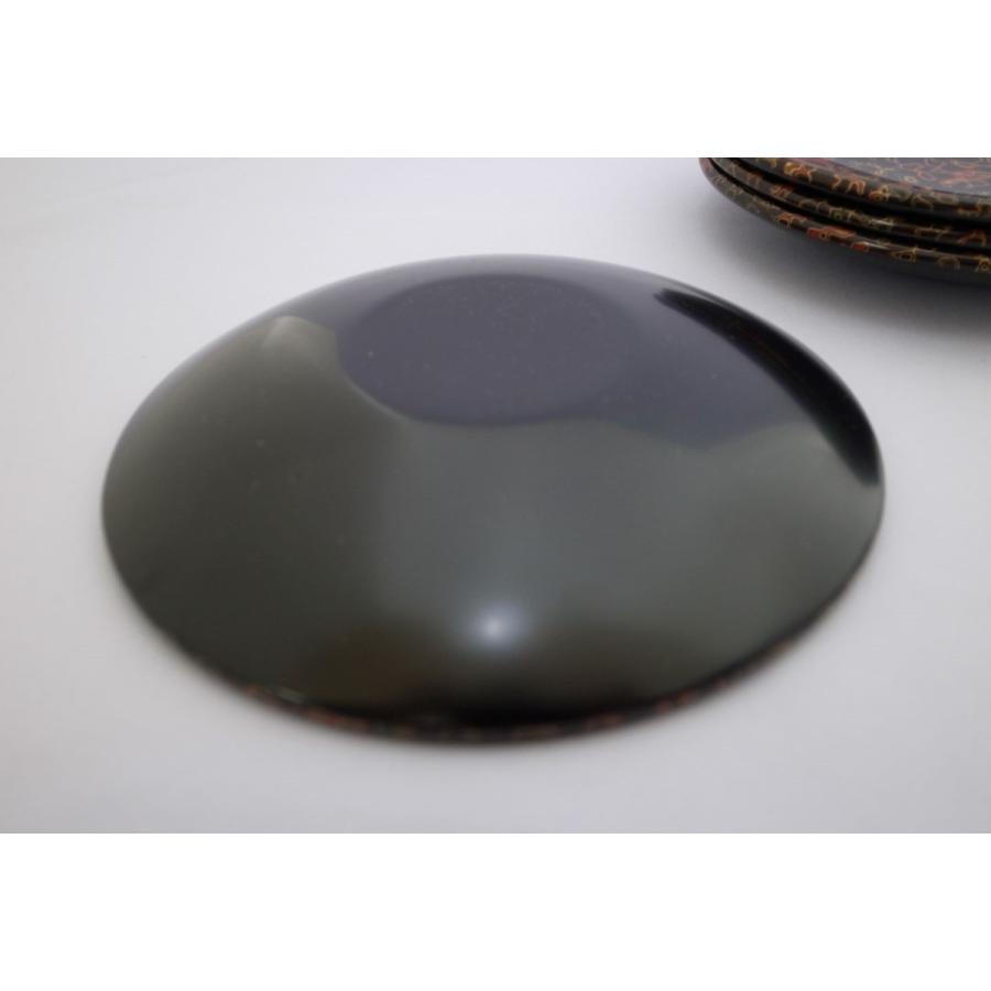 丸銘々皿 5枚入 木製 5寸 唐塗赤上|tsugaru-ishioka|03