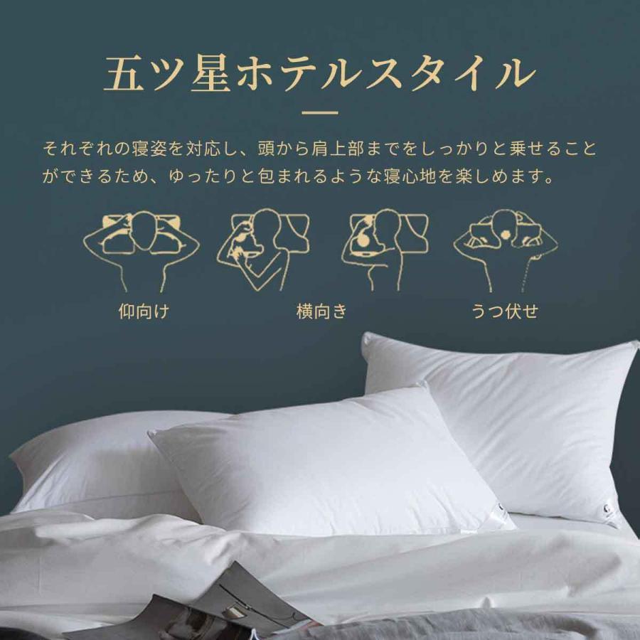 ★P3倍★まくら 安眠 枕 ホテル仕様枕 ホテル安眠枕 高反発 柔らかい 快眠枕 良い通気性  横向き対応 抗菌防臭 プレゼント ふわふわ 立体構造 大きめ tsuhan-123 12